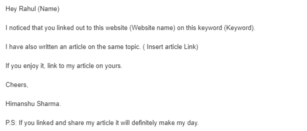 how to get rank on google : Backlink asking Email.